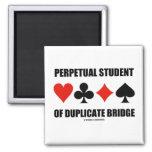 Perpetual Student Of Duplicate Bridge (Card Suits) 2 Inch Square Magnet
