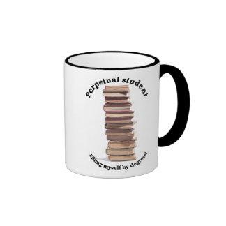 perpetual student ringer mug