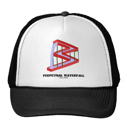 Perpetual Waterfall (Optical Illusion) Trucker Hat