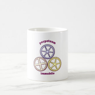 perpetuum immobile classic white coffee mug