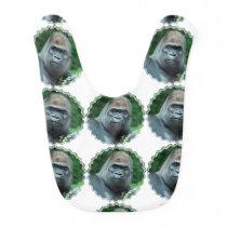 Perplexed Gorilla Baby Bib