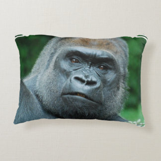 Perplexed Gorilla Decorative Pillow