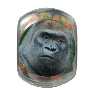 Perplexed Gorilla Jelly Belly Candy Jar