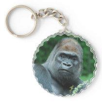Perplexed Gorilla Keychain