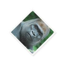Perplexed Gorilla Paper Napkin