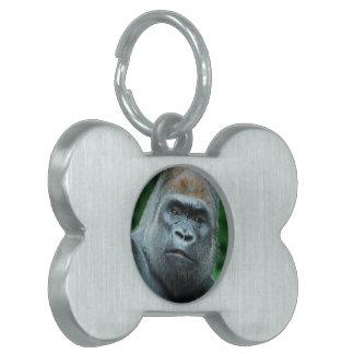 Perplexed Gorilla Pet ID Tag