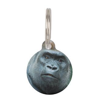Perplexed Gorilla Pet Name Tag