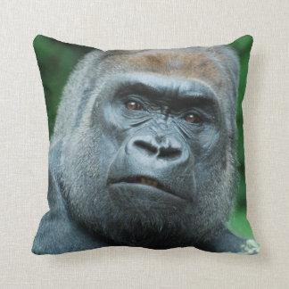 Perplexed Gorilla Throw Pillow