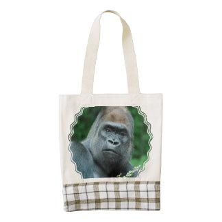 Perplexed Gorilla Zazzle HEART Tote Bag