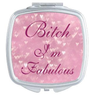 Perra soy espejo compacto fabuloso
