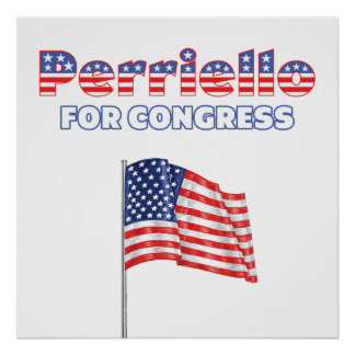 Perriello for Congress Patriotic American Flag Poster