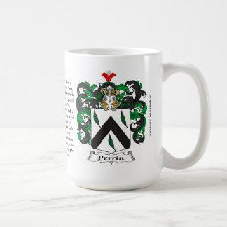 Perrin, el origen, el significado y el escudo taza de café