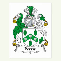 Perrin Family Crest Postcard