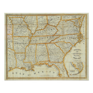 Perrine's New Topographical War Map Poster