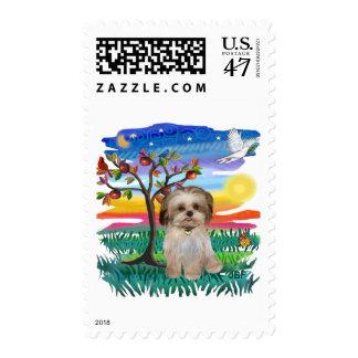Perrito #2 de Shih Tzu Timbre Postal