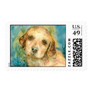 Perrito 2 del perro perdiguero sellos