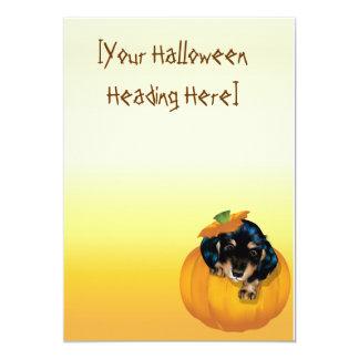 "Perrito-Abucheo invitation_525x525 de Halloween Invitación 5"" X 7"""