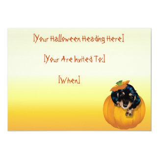 "Perrito-Abucheo invitation_55x425_h de Halloween Invitación 5"" X 7"""