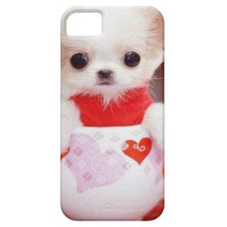 perrito adorable de la taza de té iPhone 5 funda