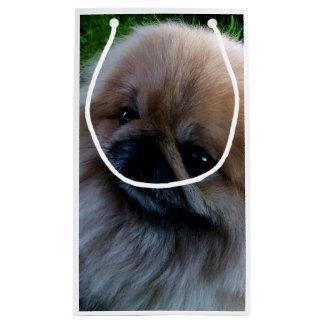 Perrito adorable de Pekingese Bolsa De Regalo Pequeña