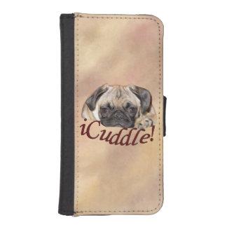 Perrito adorable del barro amasado del iCuddle Funda Tipo Billetera Para iPhone 5