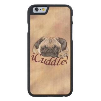 Perrito adorable del barro amasado del iCuddle Funda De iPhone 6 Carved® Slim De Arce