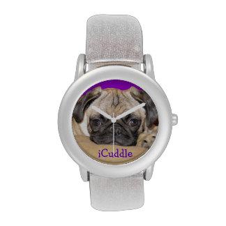 Perrito adorable del barro amasado del iCuddle Reloj