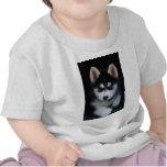 Perrito adorable del perro de trineo del husky sib camisetas