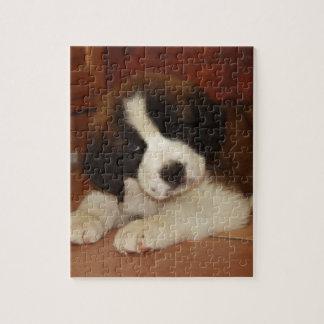 Perrito adorable y dulce de St Bernard Puzzle Con Fotos