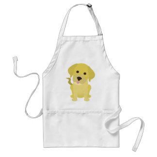 Perrito amarillo de Labrador Delantales