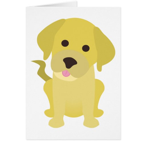 Perrito amarillo de Labrador Tarjeta De Felicitación