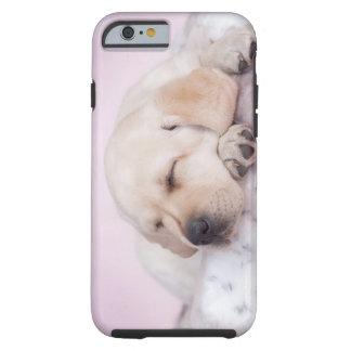 Perrito amarillo del labrador retriever funda para iPhone 6 tough