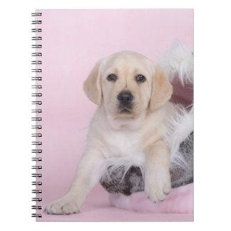 Perrito amarillo del labrador retriever libro de apuntes