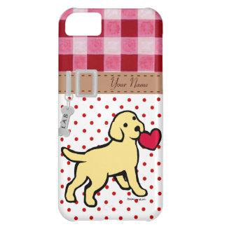 Perrito amarillo personalizado del laboratorio y c funda para iPhone 5C