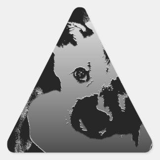 Perrito anhelante calcomania trianguladas personalizadas