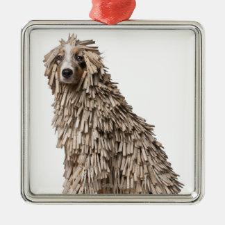 Perrito australiano del pastor por completo del Cl Ornaments Para Arbol De Navidad