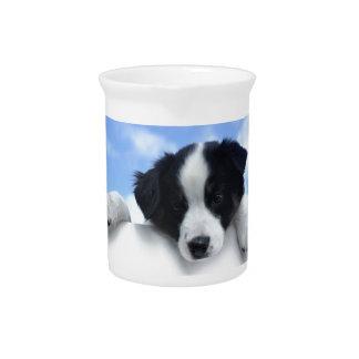 Perrito australiano del perro pastor jarrones