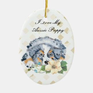 Perrito azul de Merle Aussie Adorno Para Reyes