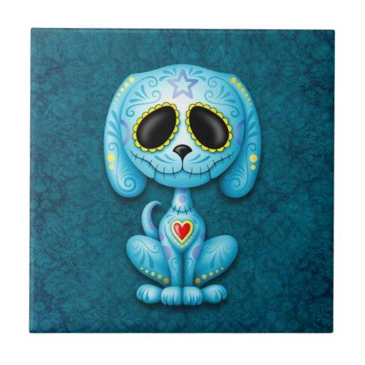 Perrito azul del azúcar del zombi azulejo