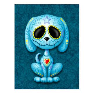 Perrito azul del azúcar del zombi postales