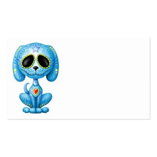 Perrito azul del azúcar del zombi plantillas de tarjetas de visita