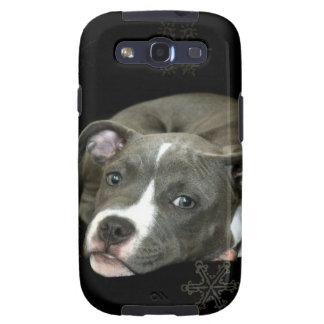 Perrito azul del pitbull galaxy SIII protectores