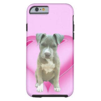 Perrito azul del pitbull funda para iPhone 6 tough