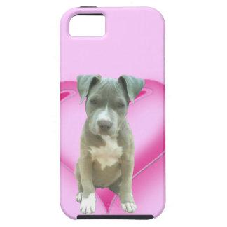 Perrito azul del pitbull iPhone 5 funda