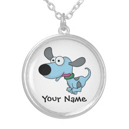 Perrito azul lindo grimpolas personalizadas