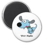 Perrito azul lindo imán para frigorifico