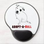 Perrito blanco ADOPT-A-BULL de Pitbull