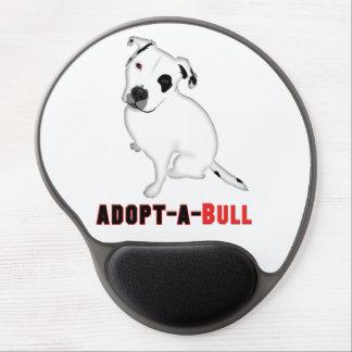 Perrito blanco ADOPT-A-BULL de Pitbull Alfombrilla De Ratón Con Gel