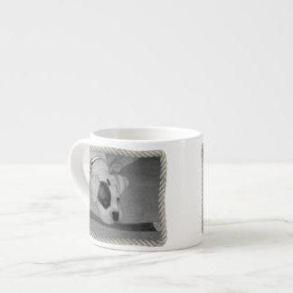 Perrito blanco del boxeador taza espresso