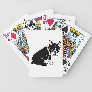 Perrito blanco y negro lindo del dogo francés barajas